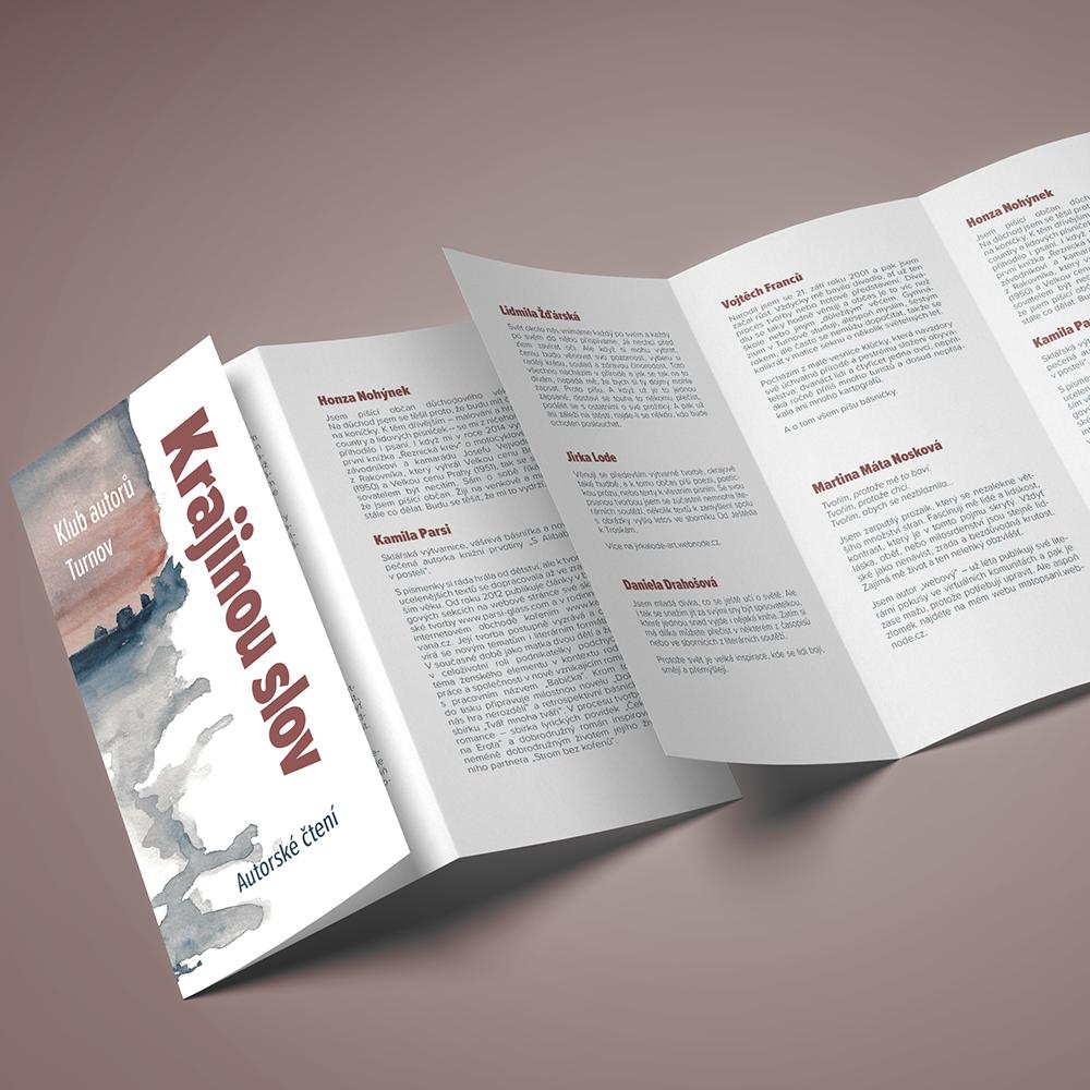 Leták - autorské čtení vČinoherní kavárně 2018