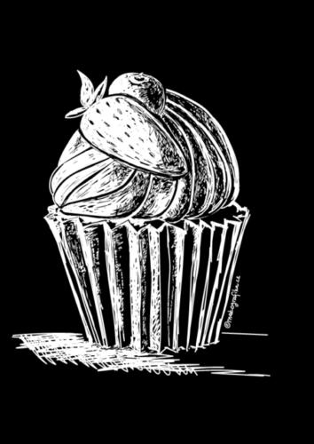 Cupcake - vektorová kresba vAdobe Ilustrator