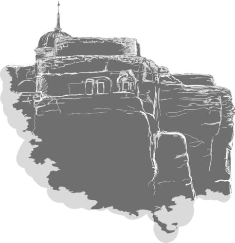 Sloup vČechách - vektorová kresba vAdobe Ilustrator